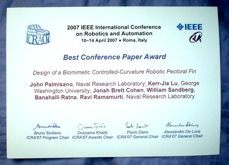 Best Conference Paper Award