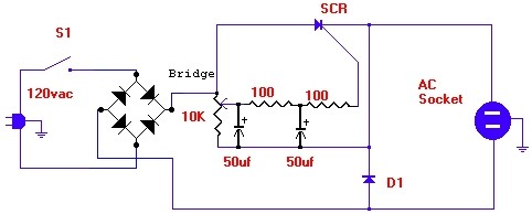 AC Motor Speed Control Schematic