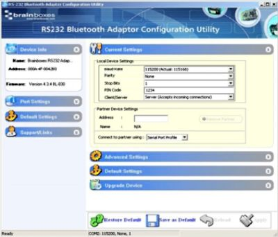 Bluetooth Adaptor GUI