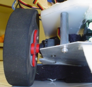 Servo and Wheel Mounted on Robot