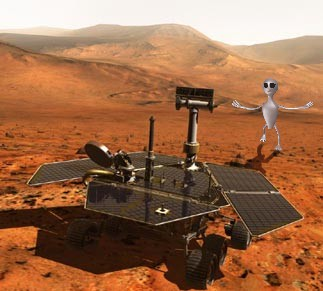 Mars Rover with an Alien