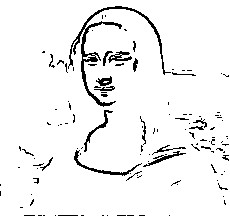 Mona Lisa Edge Detection