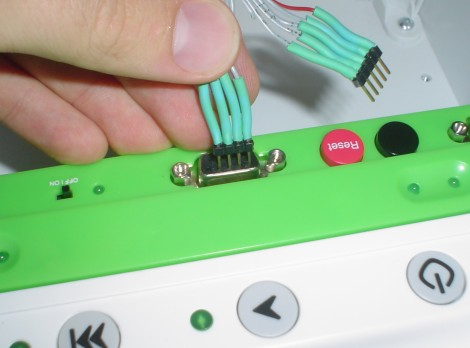Plugging in Wiring to Create Serial Port