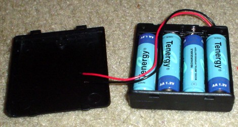 Put 4 NiMH Batteries into Battery Pack