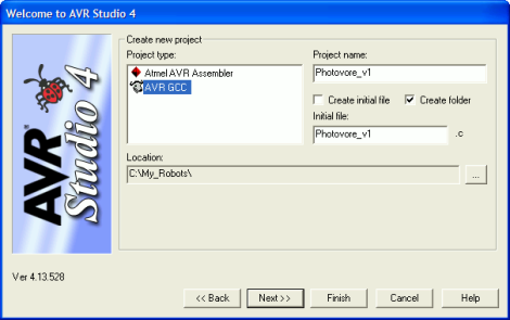 Select These Options in AVR Studio