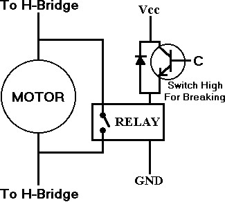 DC Electronic Breaking with MOSFET and Relay