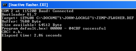 Bootloader Command Window