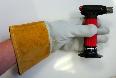 Brazing gloves and torch