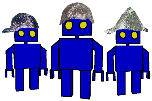 tin foil hats to protect from brain controlling blue-tooth rays